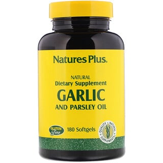 Nature's Plus, Aceite de ajo y perejil, 180 softgels