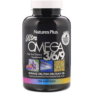 Натурес Плюс, Ultra Omega 3/6/9, 120 Softgels отзывы