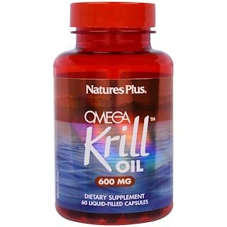 Nature's Plus, Omega Krill Oil, 600 mg, 60 Liquid-Filled Capsules