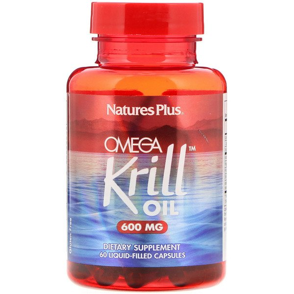 Nature's Plus, Omega Krill Oil, 600 mg, 60 Liquid-Filled Capsules