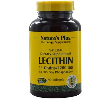 Nature's Plus, Lecithin, 1200 mg, 90 Softgels