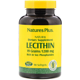 Nature's Plus, Lecithin, 1,200 mg, 90 Softgels
