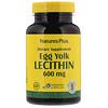 Nature's Plus, Лецитин из яичных желтков, 600мг, 90вегетарианских капсул