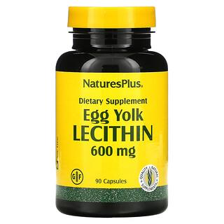 Nature's Plus, Egg Yolk Lecithin, 600 mg, 90 Capsules