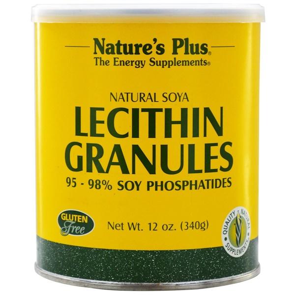 Nature's Plus, Lecithin Granules, Natural Soya, 12 oz (340 g)