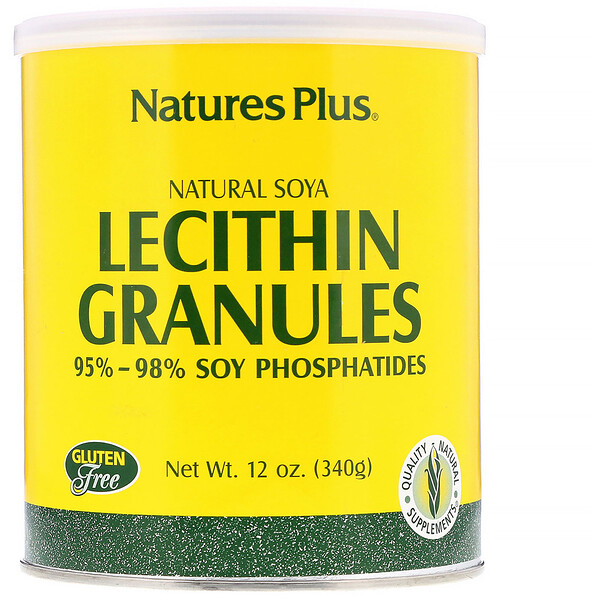 Nature's Plus, Lecithin Granules, Natural Soya, 12 oz (340 g)