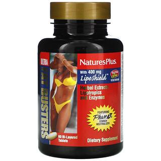 Nature's Plus, Ultra Fat Busters, жиросжигатель, 60 двухслойных таблеток