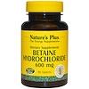 Nature's Plus, Бетаин гидрохлорид (Betaine Hydrochloride), 600 мг, 90 таблеток
