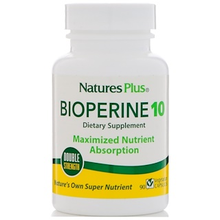 Nature's Plus, Bioperine 10, 90 Vegetarian Capsules