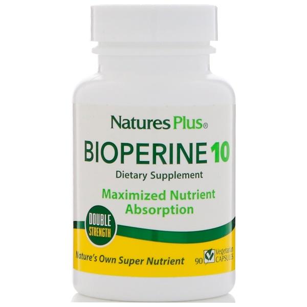 Nature's Plus, 胡椒素10,90粒植物膠囊