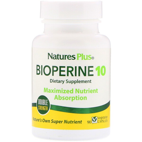 Nature's Plus, BioPerine، 90 كبسولة نباتية