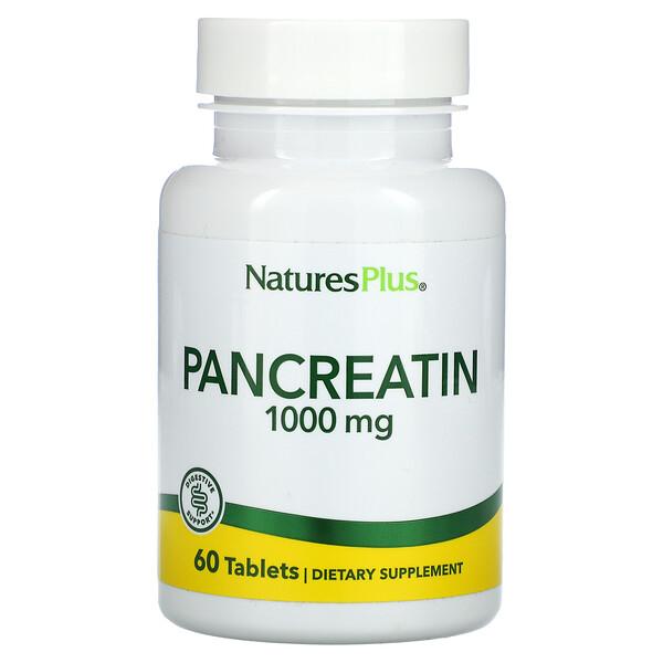 Pancreatin, 1,000 mg, 60 Tablets