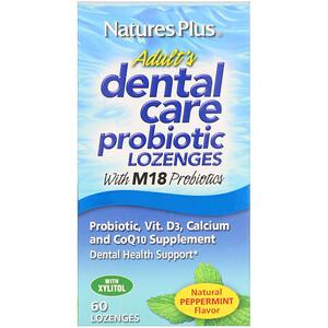 Натурес Плюс, Adult's Dental Care Probiotic, Natural Peppermint Flavor, 60 Lozenges отзывы