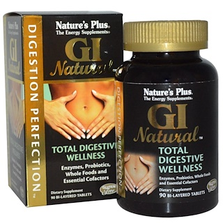 Nature's Plus, Digestion Perfection, GI Natural, 90 Bi-Layered Tablets