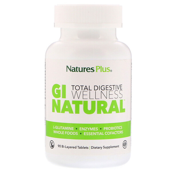 Nature's Plus, Total Digestive Wellness, GI Natural, 90 Bi-Layered Tablets