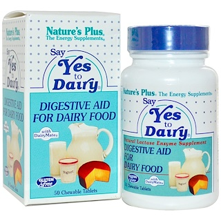 Nature's Plus, Say Yes to Dairy, 50 Chewable Tablets