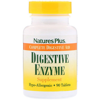 Nature's Plus, Digestive Enzyme Supplement, 90 Tablets