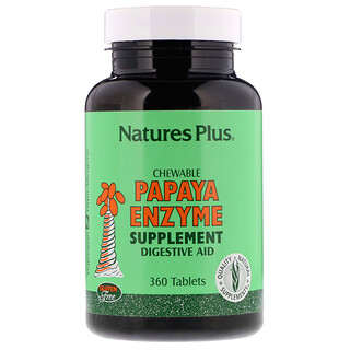 Nature's Plus, Suplemento Enzimas Papaya, 360 Tabletas Masticables