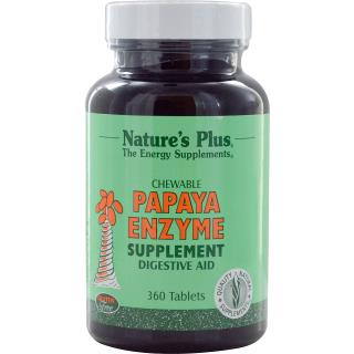 Nature's Plus, Chewable Papaya Enzyme Supplement, 360 Tablets