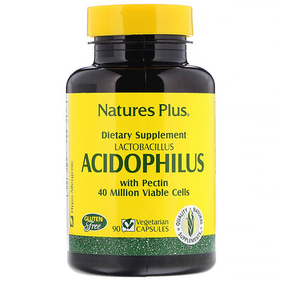 Купить Nature's Plus Лактобактерии Ацидофилус, 90 Капсул