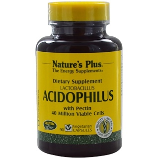 Nature's Plus, Acidophilus, Lactobacillus, 90 Veggie Caps