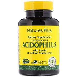 Натурес Плюс, Acidophilus, Lactobacillus, 90 Vegetarian Capsules отзывы