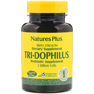 Nature's Plus, Tri-Dophilus, Probiotic Supplement, Triple Strength, 60 Vegetarian Capsules