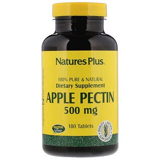 Nature's Plus, Pectina de Manzana, 500 mg, 180 Tabletas