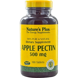 Nature's Plus, Apple Pectin, 500 mg, 180 Tablets