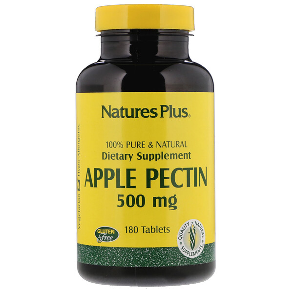 Pectina de Manzana, 500 mg, 180 Tabletas
