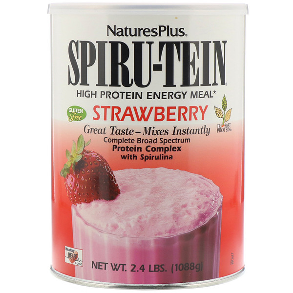 Nature's Plus, Spiru-Tein, High Protein Energy Meal, Strawberry, 2.4 lbs (1088 g)