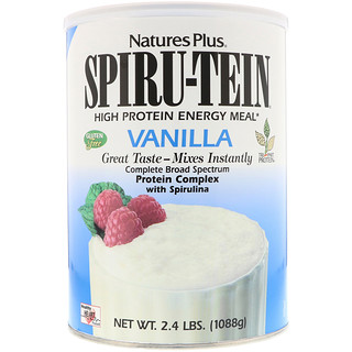 Nature's Plus, Spiru-Tein High Protein Energy Meal, Vanilla, 2.4 lbs (1088 g)