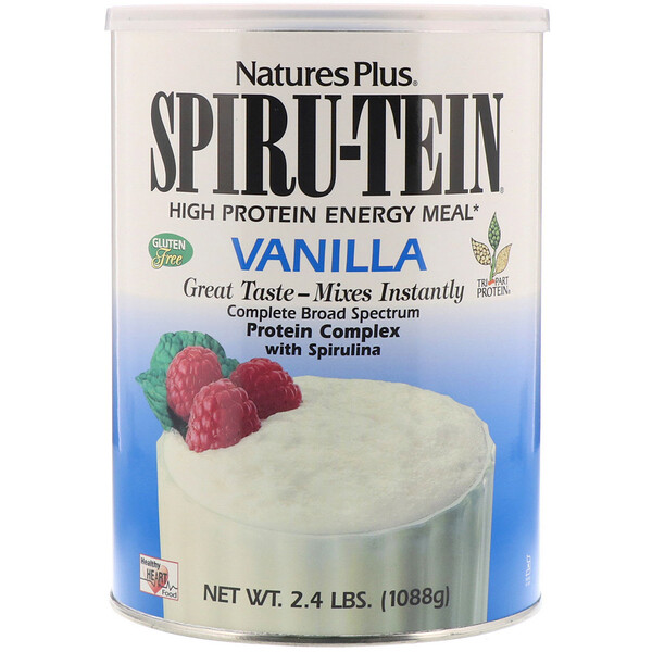 Nature's Plus, Spiru-Tein, High Protein Energy Meal, Vanilla, 2.4 lbs (1088 g)
