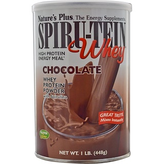 Nature's Plus, Spiru-Tein Whey, High Protein Energy Meal, Chocolate, 1 lb. (448 g)