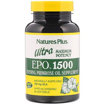 Купить Nature's Plus Пищевая добавка Ultra EPO 1500, максимальная энергия, 60 капсул