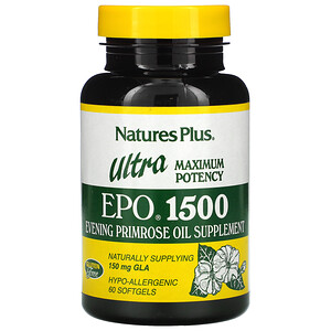 Натурес Плюс, Ultra EPO 1500, Maximum Potency, 60 Softgels отзывы