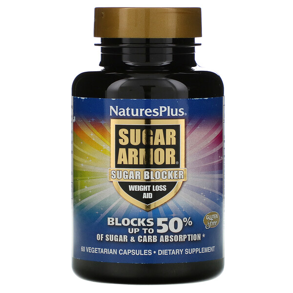 Sugar Armor, Sugar Blocker, Weight Loss Aid, 60 Vegetarian Capsules