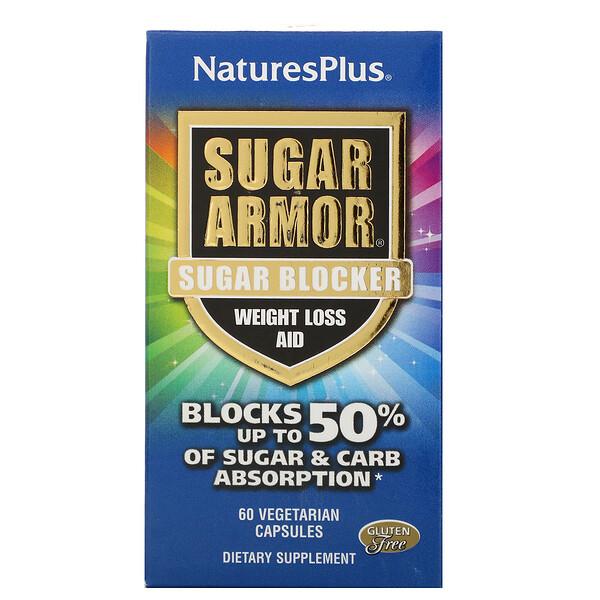 Sugar Armor, Sugar Blocker, Weight Loss Aid, 60 Vegetarian Capsules