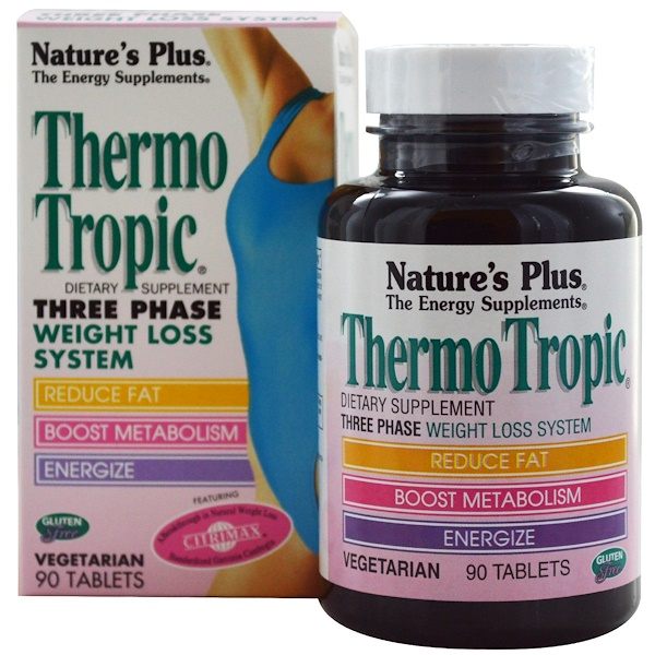 Nature's Plus, Thermo Tropic, Three Phase Weight Loss System, 90 Tablets (Discontinued Item)
