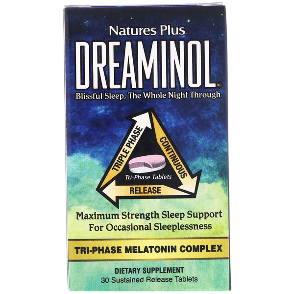 Nature's Plus, Dreaminol, 30 Sustained Release Tablets (Discontinued Item)