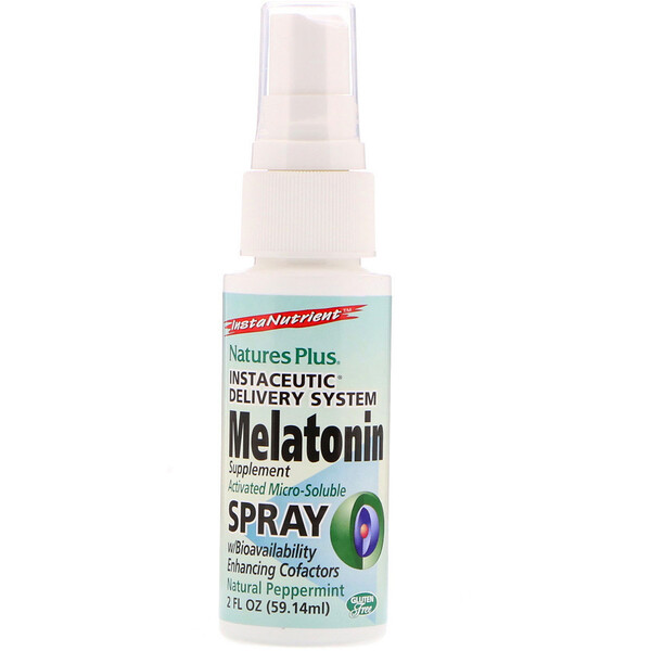 InstaNutrient, Melatonin Supplement Spray, Natural Peppermint, 2 fl oz (59.14 ml)