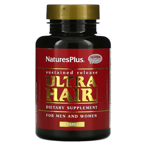 Nature's Plus, Ultra Hair, For Men and Women, 60 Tablets