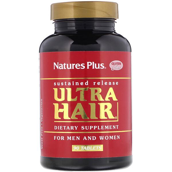 Ultra Hair, For Men and Women, 90 Tablets