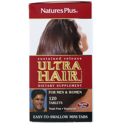 Купить Ultra Hair, для мужчин и женщин, 120таблеток
