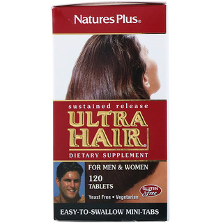 Nature's Plus, Ultra Hair, For Men & Women, 120 Tablets