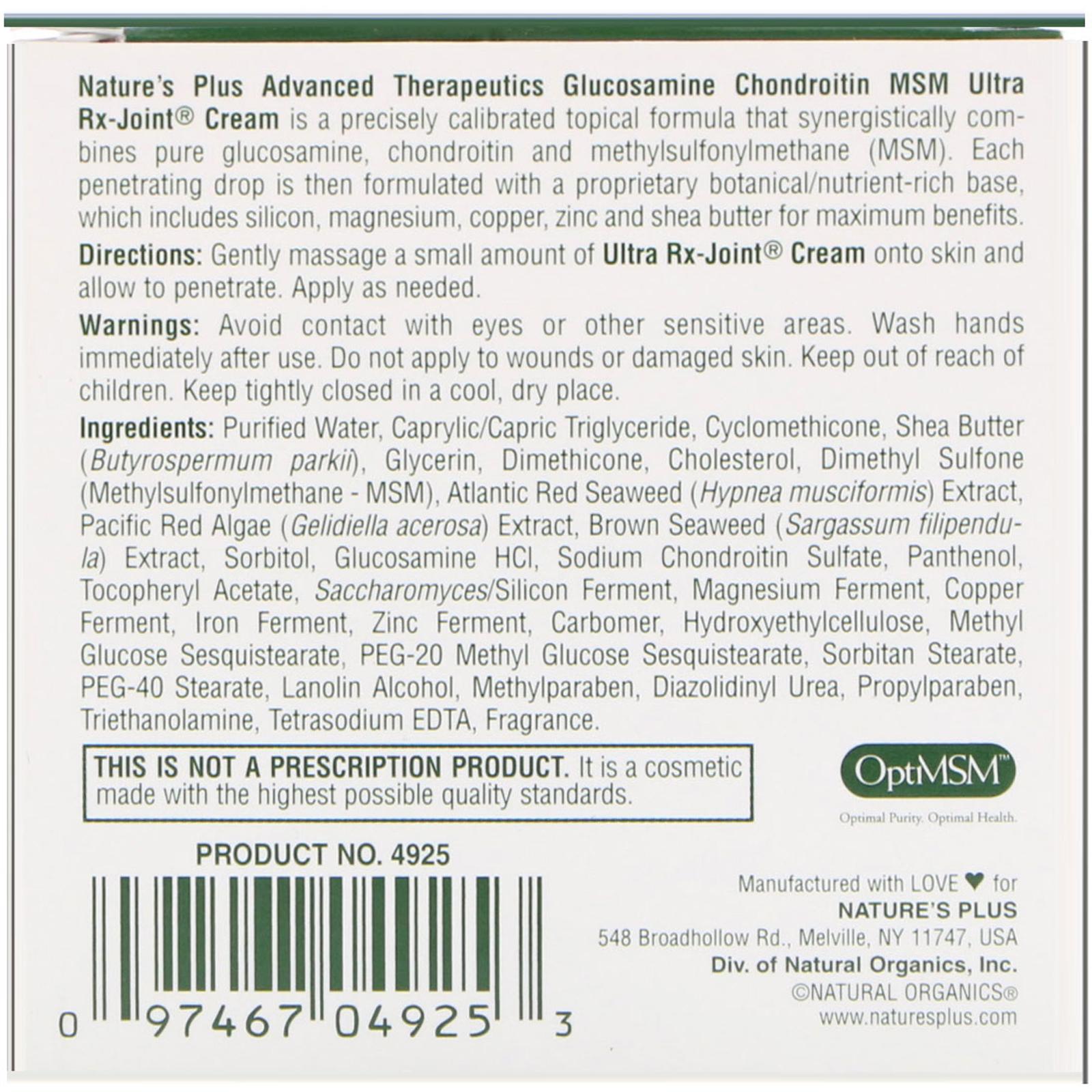Nature's Plus, Advanced Therapeutics, Glucosamine