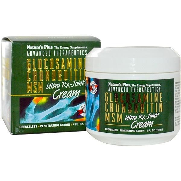Nature's Plus, Advanced Therapeutics, Glucosamin Chondroitin MSM, Ultra Rx-Joint, 4 fl oz (118 ml)