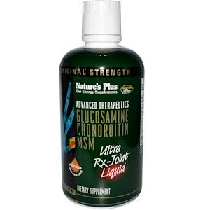 Натурес Плюс, Advanced Therapeutics, Glucosamine Chondroitin MSM, Ultra Rx-Joint, Honey Lemon Flavor, 30 fl oz (887 ml) отзывы