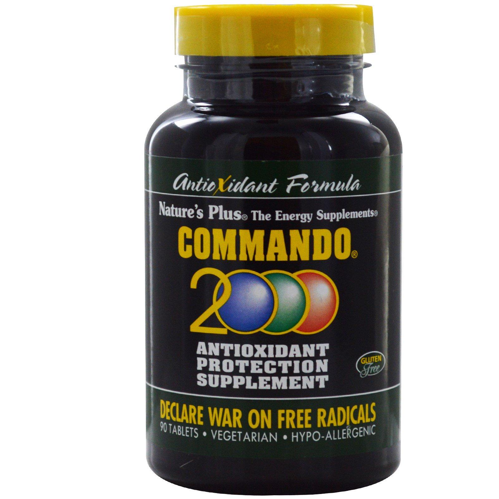 Nature's Plus, Commando 2000, Антиоксидантная защита, 90 таблеток