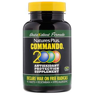 Nature's Plus, Commando 2000 Antioxidant Protection, 90 Pastillas